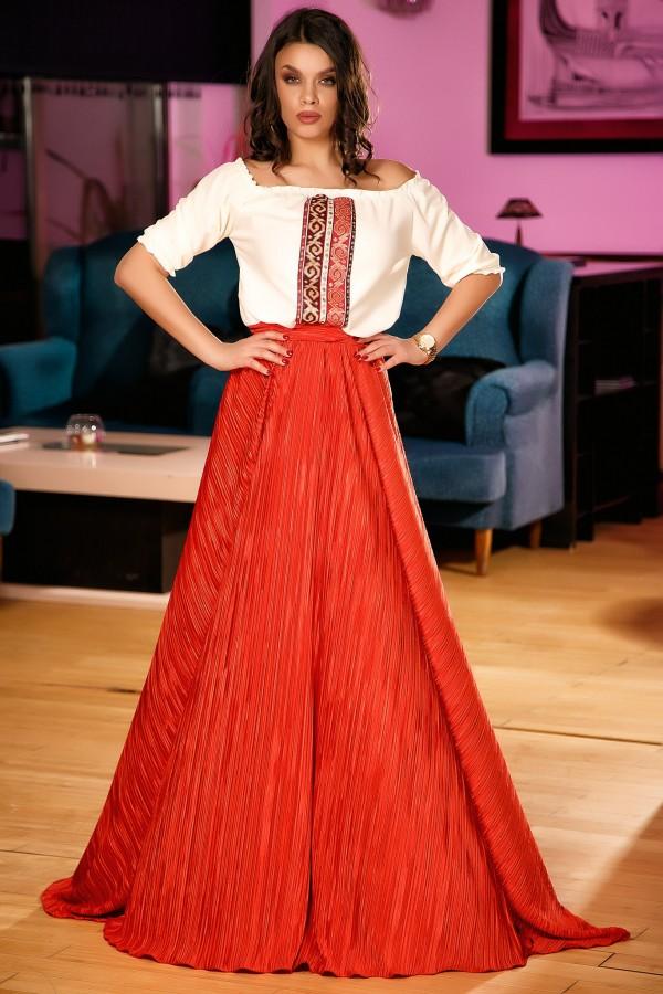 Rochie lunga Celine rosie