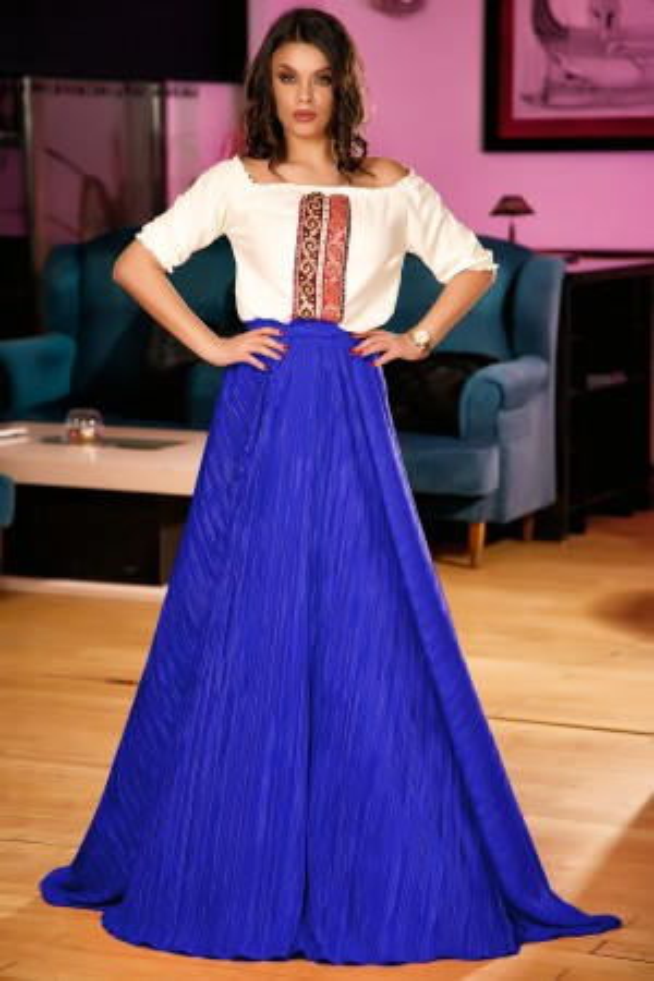 Rochie lunga Celine albastru