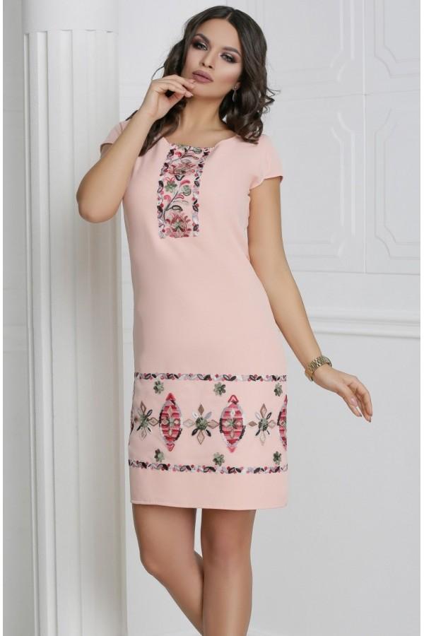 Rochie Anda roz pudra traditionala