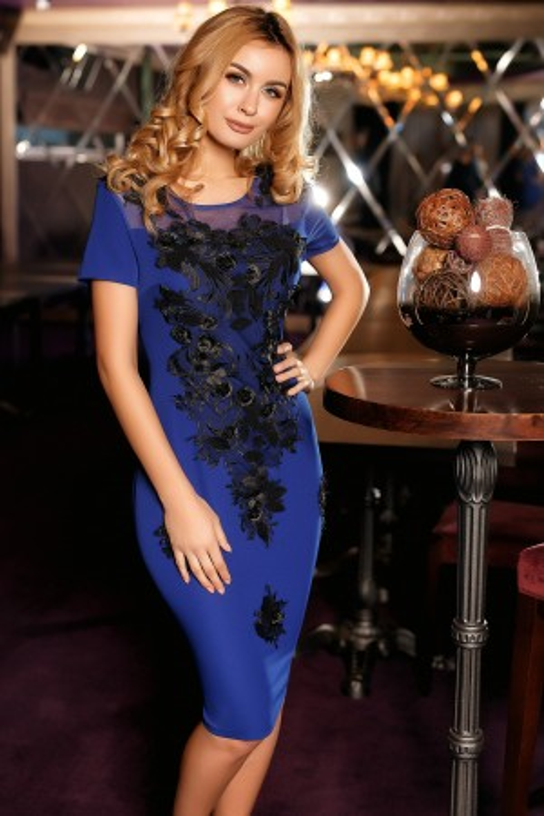 Rochie Eveline albastra