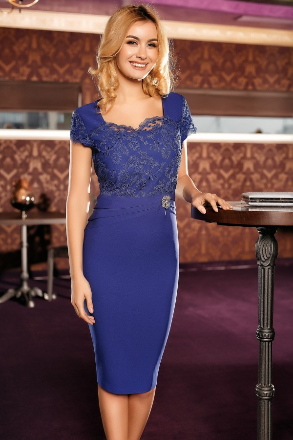 Rochie eleganta Raisa albastra