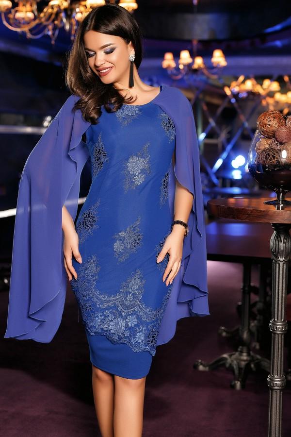 Rochie albastra de seara Elena