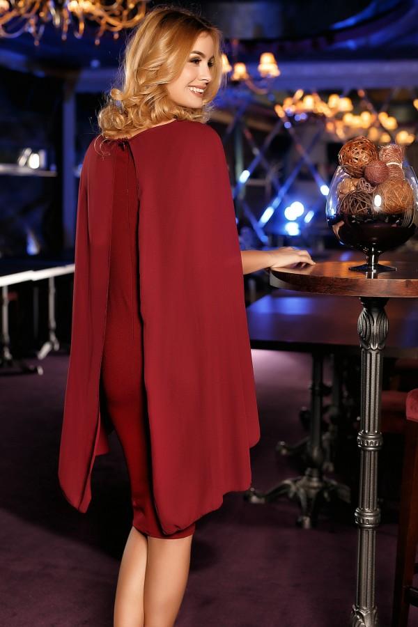 Rochie bordo de seara Elena