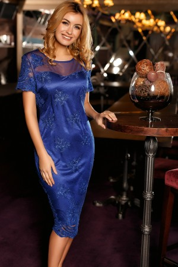 Rochie Arissa albastra