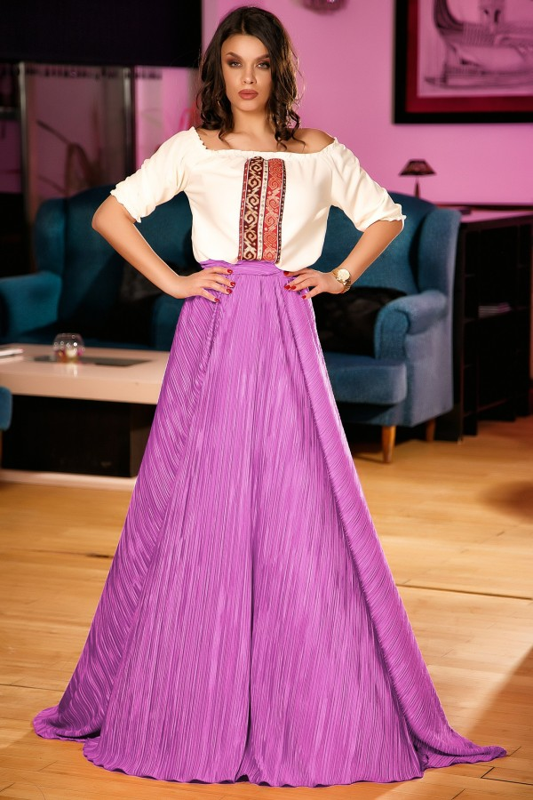 Rochie lunga Celine lila