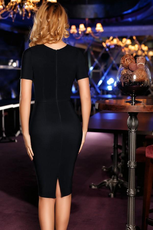 Rochie neagra cu imprimeuri albe