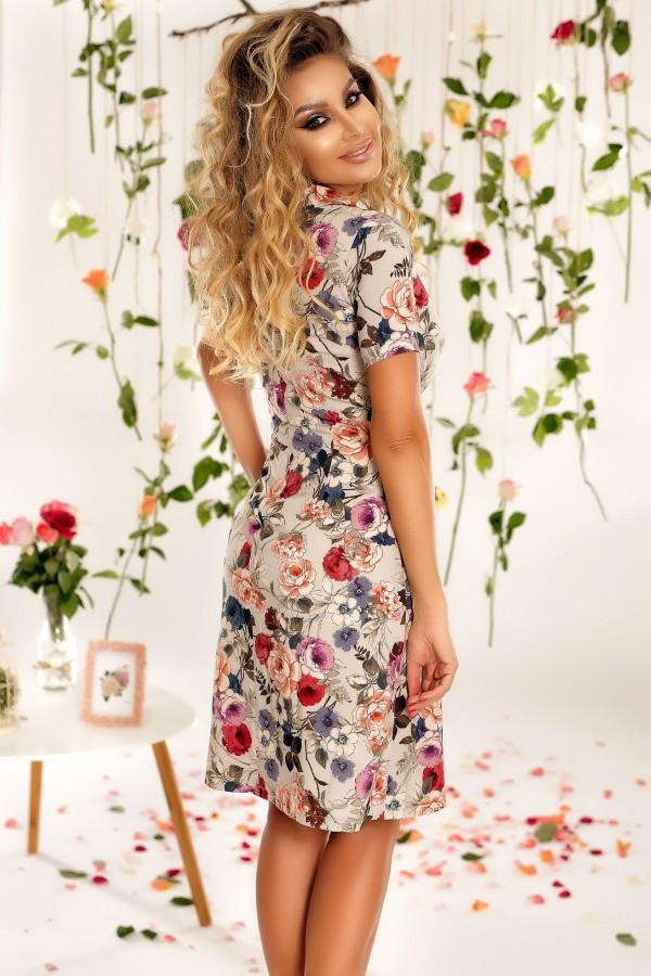 Rochie eleganta cu imprimeu floral Aurora