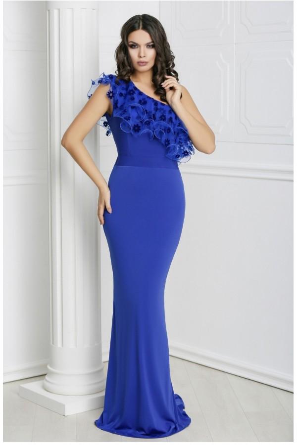 Rochie lunga Talia albastra
