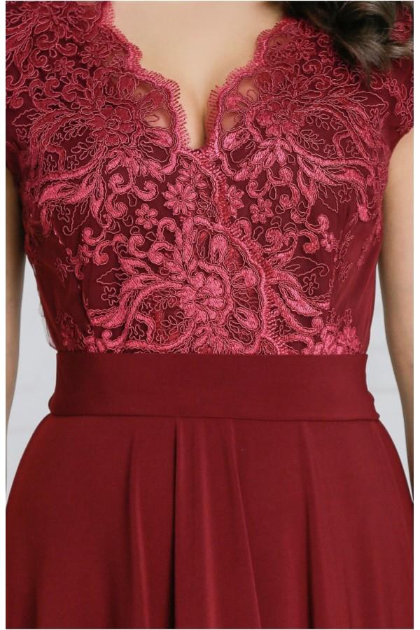 Rochie lunga Miriam rosie