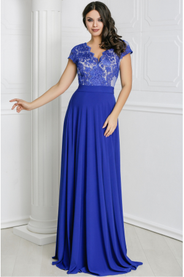 Rochie lunga Miriam albastra