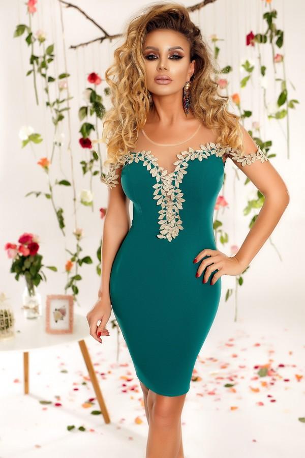 Rochie eleganta Fiona verde