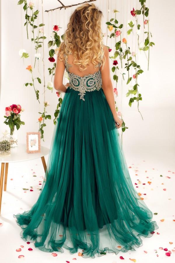 Rochie lunga Briana verde