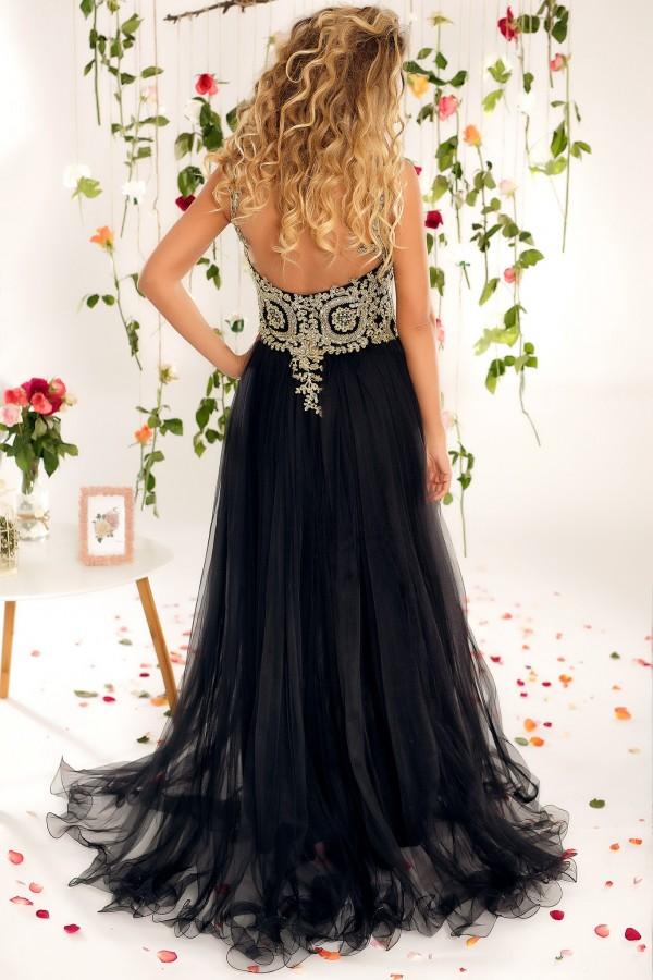 Rochie lunga Briana neagra