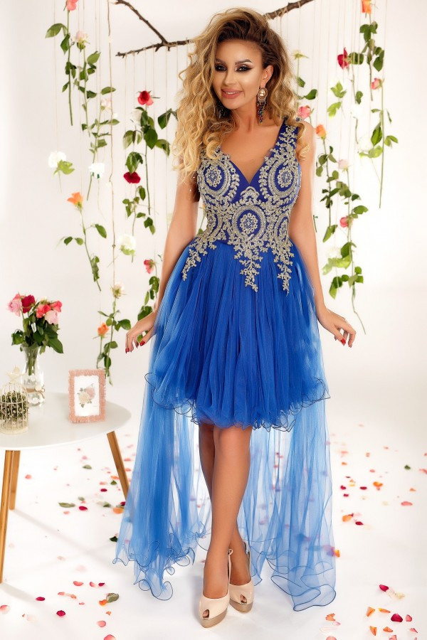 Rochie lunga Alessia albastra