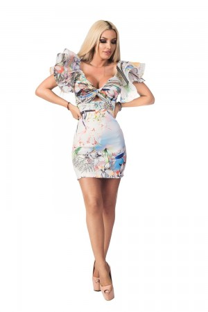 Rochie tropical flower