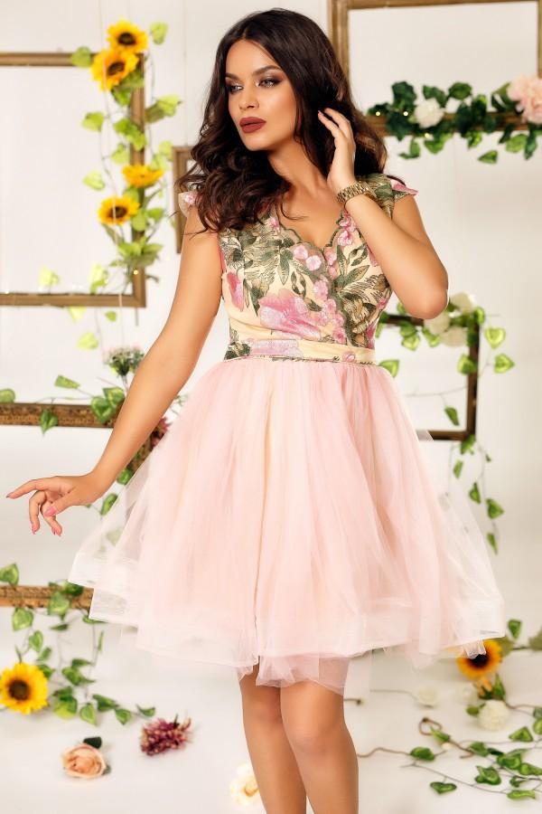 Rochie Helen roz