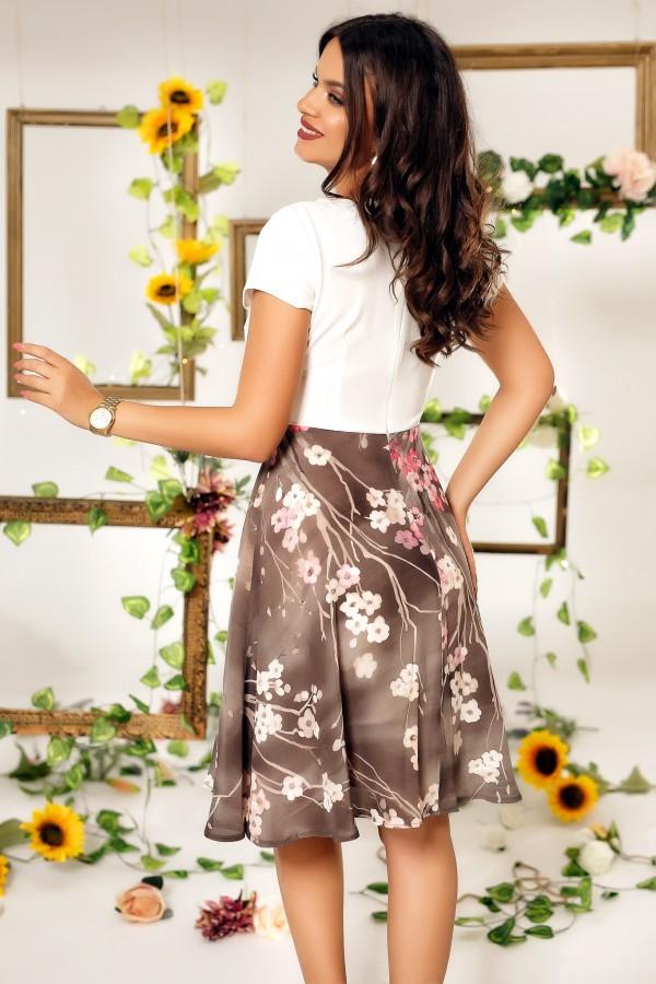 Rochie Milona cu imprimeu floral multircolor