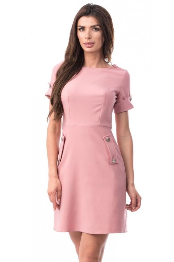 Rochie Helena roz in clos
