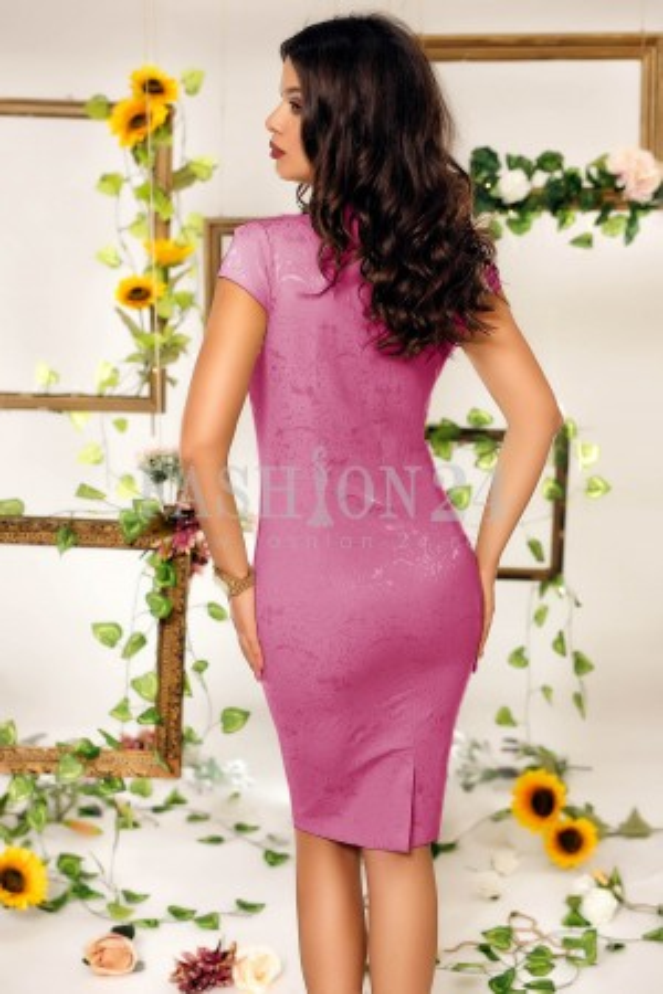 Rochie de seara roz croi conic