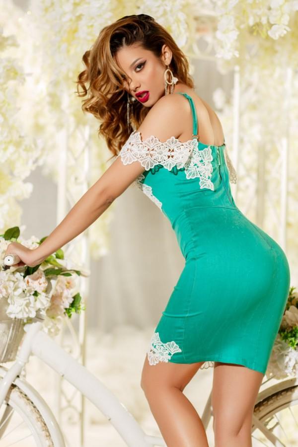 Rochie de seara Bella verde