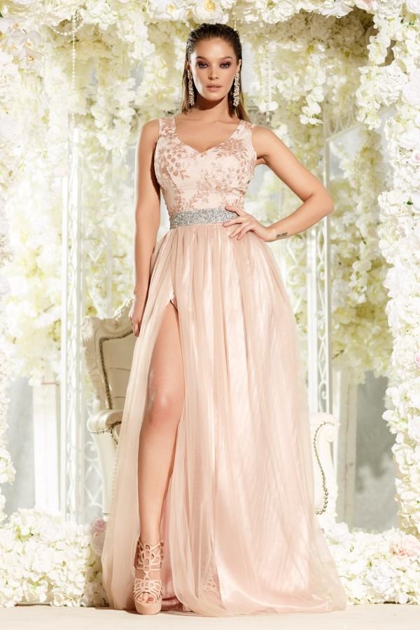 Rochie lunga Ariana roz