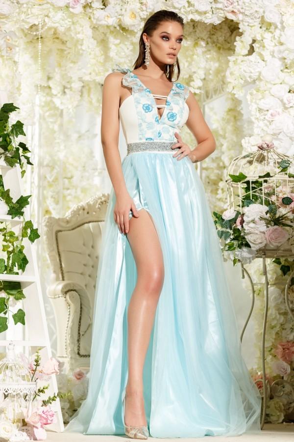 Rochie lunga Julia bleu