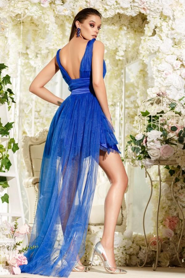 Rochie Brielle albastru electric cu trena