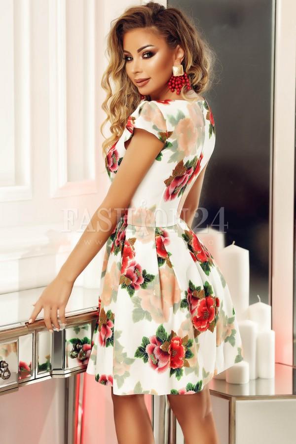 Rochie Ella cu imprimeuri florale