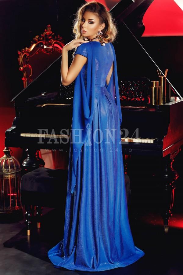 Rochie albastru regal glitter