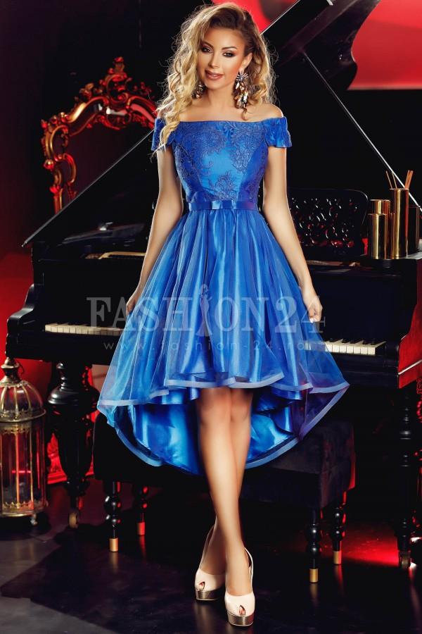 Rochie de seara albastra cu trena