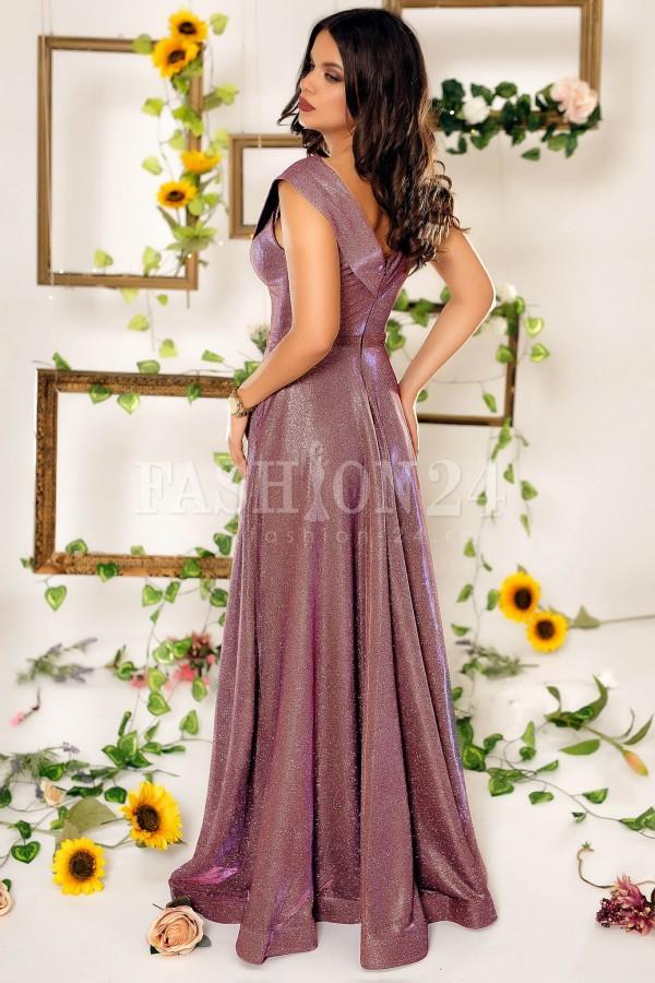 Rochie lunga Estella roz