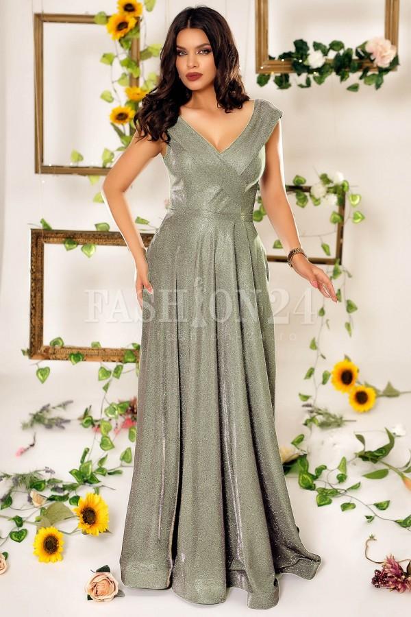 Rochie lunga Estella gold