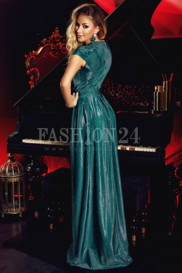 Rochie Green Smarald Glitter Elisabeth
