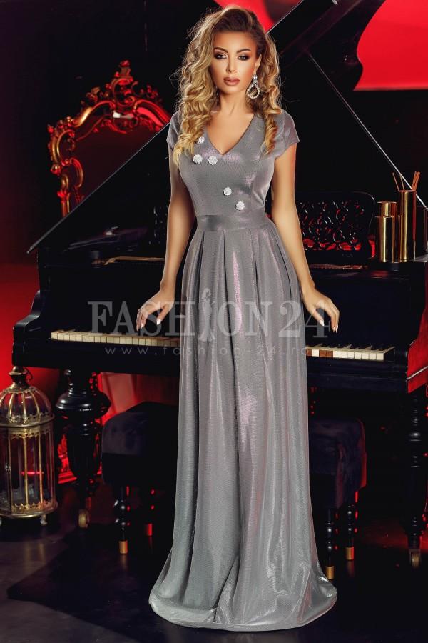 Rochie Gray Glitter Elisabeth