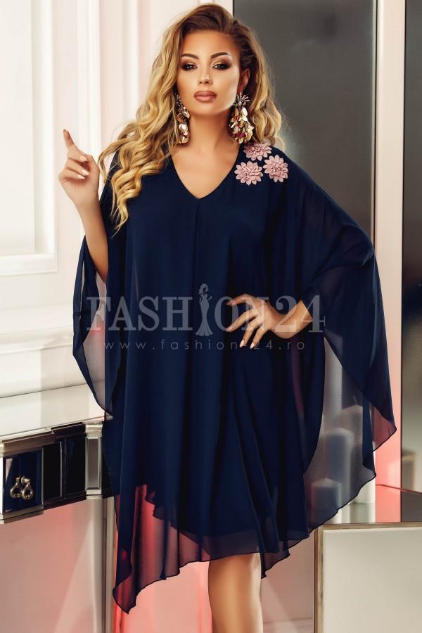 Rochie Anais bleumarin eleganta