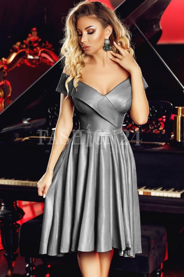 Rochie de seara gray glitter