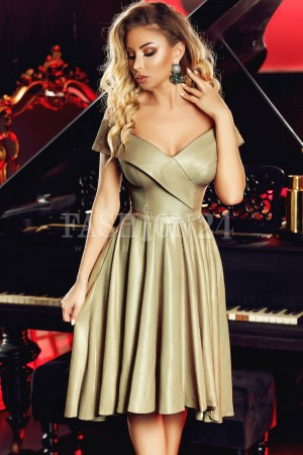 Rochie de seara gold glitter new