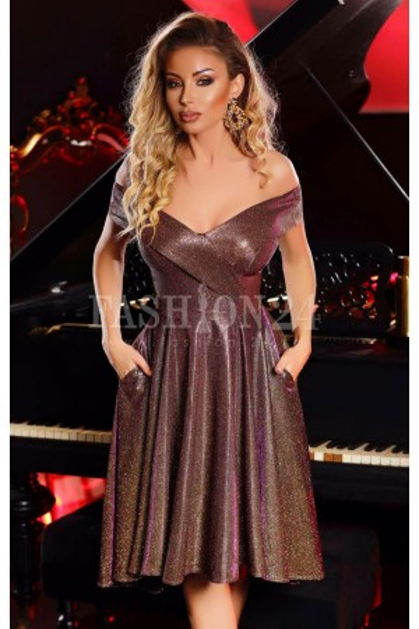 Rochie de seara gold intense glitter