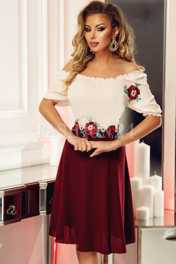 Rochie Ailyn roz-bleumarin