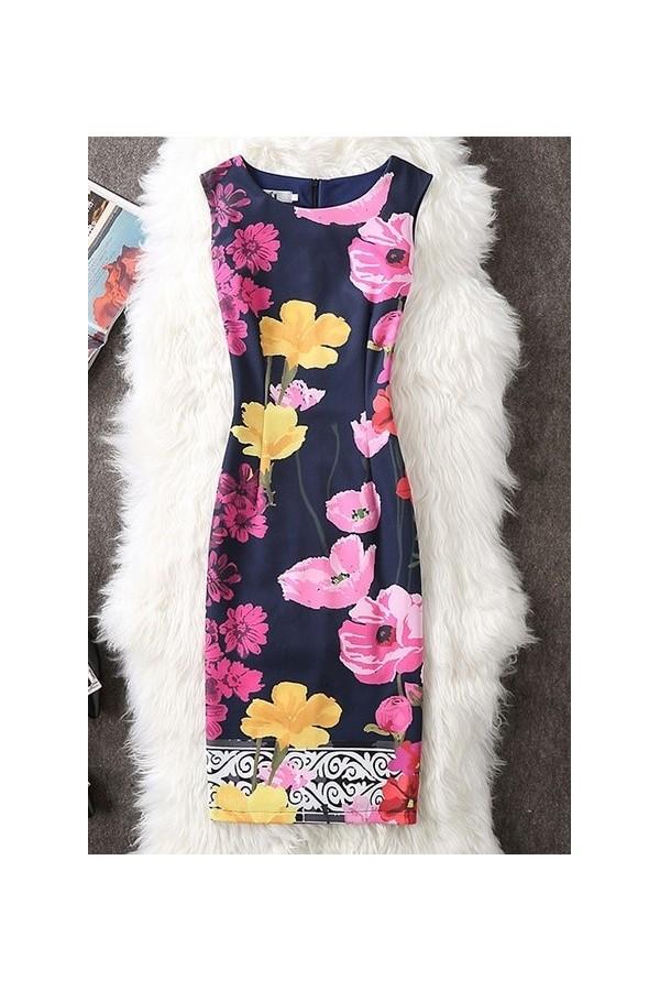 Rochie cu imprimeuri Hellen multicolor