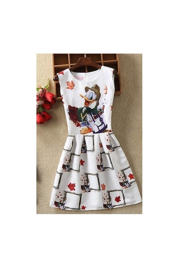Rochie cu imprimeuri Donald Duck