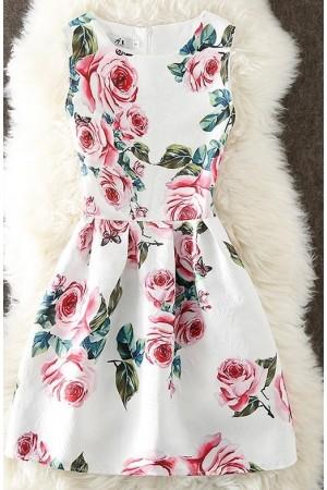 Rochie cu imprimeuri special roses