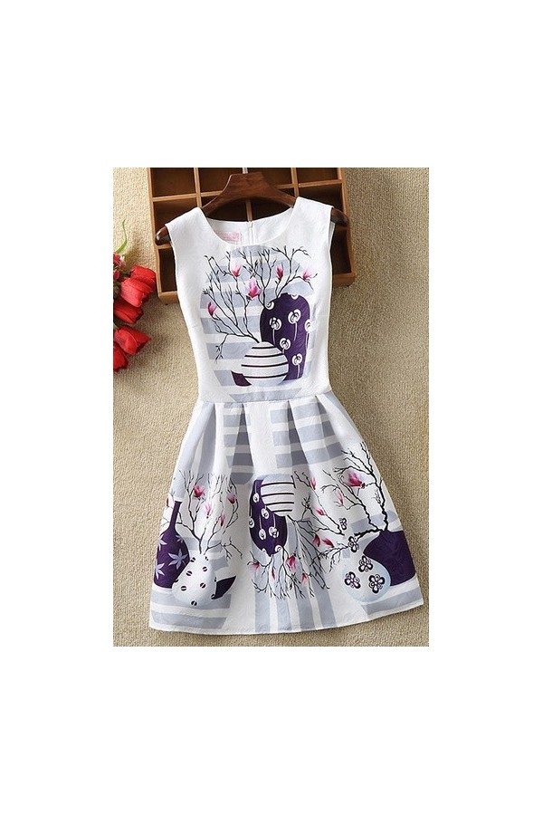 Rochie cu imprimeuri Julieta Multicolor