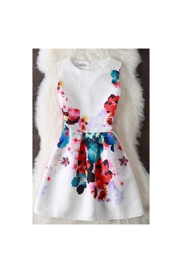 Rochie cu imprimeuri Angie multicolor