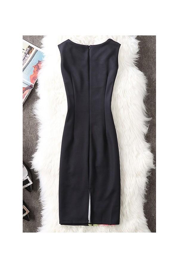Rochie cu imprimeuri Eli negru