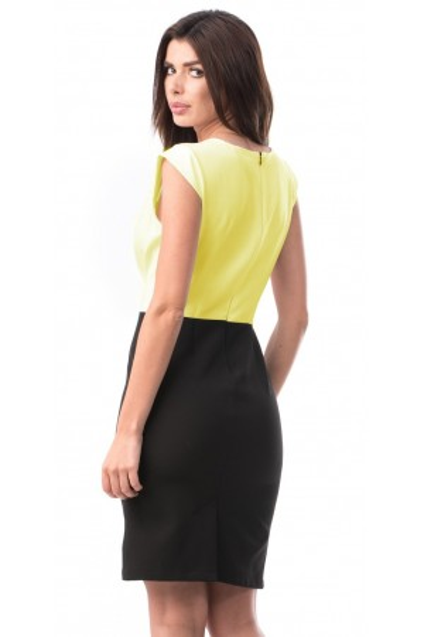 Rochie de zi Juliette negru galben