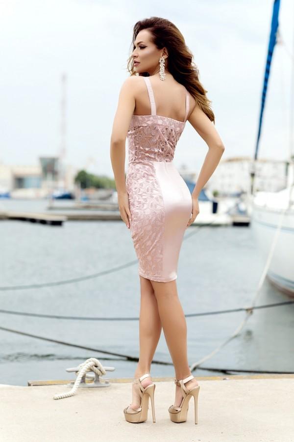 Rochie de seara Kendra roz