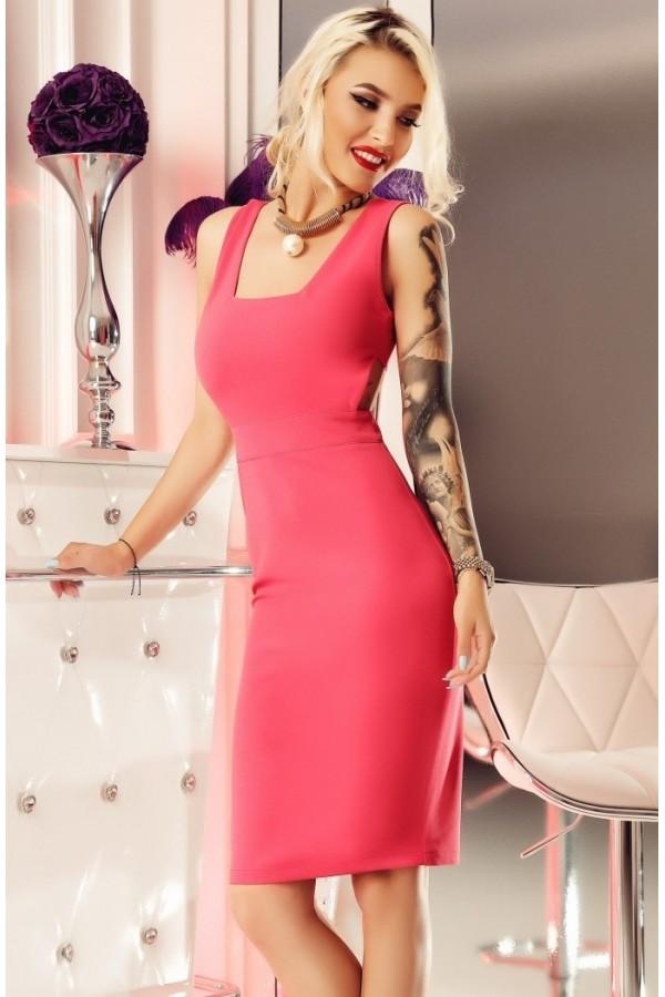 Rochie midi Lauren roz