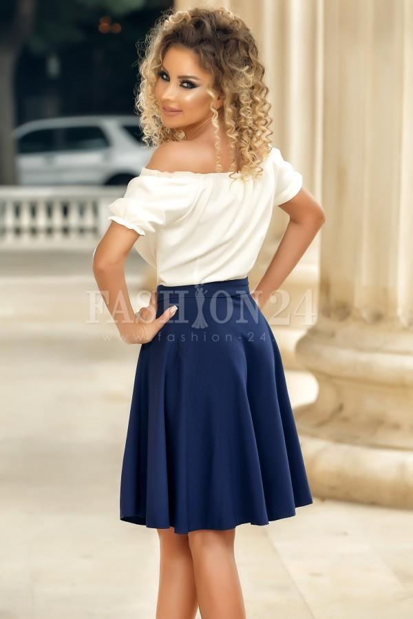 Rochie Isabela bleumarin traditionala