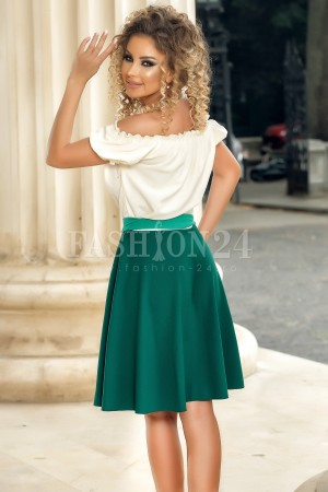 Rochie Isabela verde traditionala
